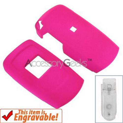 Samsung T109 Rubberized Hard Case - Hot Pink