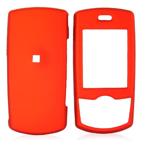 Samsung T659 Rubberized Hard Case - Orange