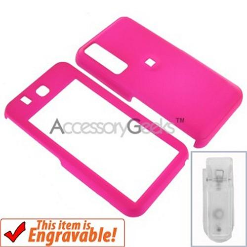 Samsung Behold Rubberized Hard Case - Hot Pink