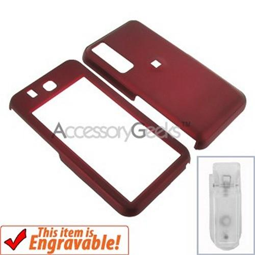 Samsung Behold Rubberized Hard Case - Red