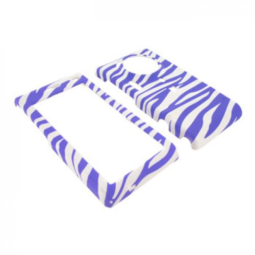 Samsung Memoir T929 Rubberized Hard Case - Light Purple Zebra on White