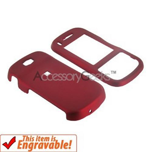 Samsung Trance U490 Rubberized Hard Case - Red