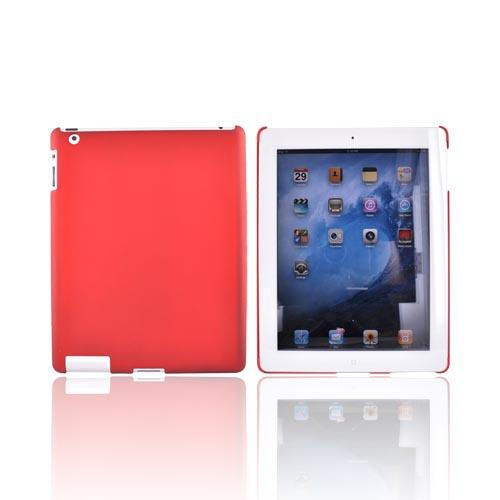 Apple iPad 2nd Gen Rubberized Back Cover Case - Red