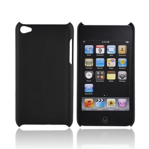Luxmo Apple iPod Touch 4 Rubberized Back Cover - Black