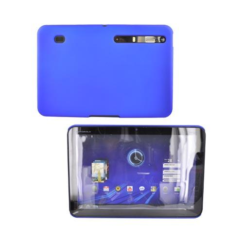 Motorola Xoom Rubberized Hard Back Cover Case - Blue