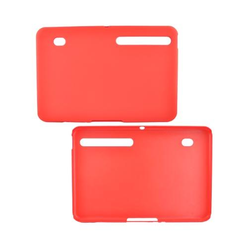 Motorola Xoom Rubberized Hard Back Cover Case - Red