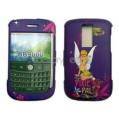 MOBO Disney Licensed Blackberry Bold Rubberized Hard Case - Pixie Pal Tinkerbell on Purple