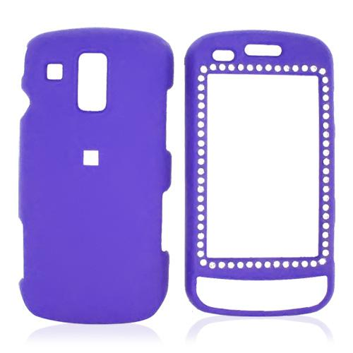 Samsung Rogue U960 Rubberized Hard Case w/ Gems - Purple