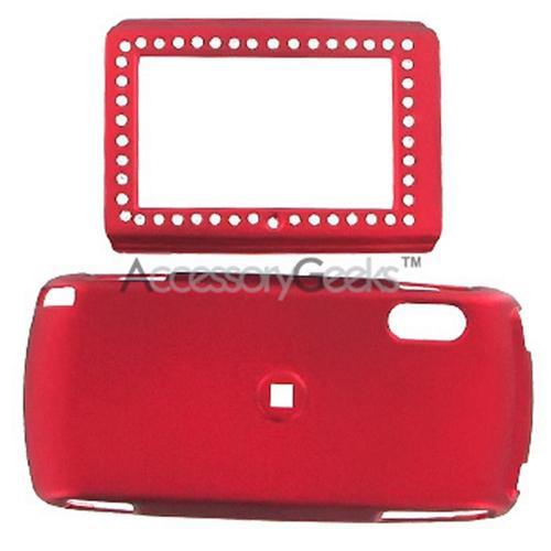SideKick LX Rubberized Hard Case w/ Gem & Belt Clip - Red