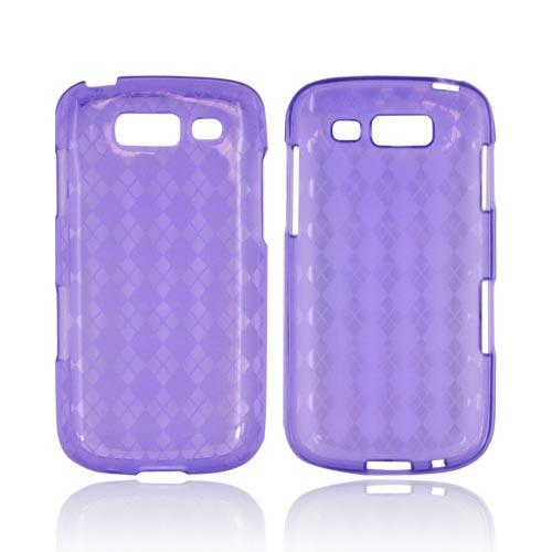 Samsung Galaxy S Blaze 4G Crystal Silicone Case - Argyle Purple