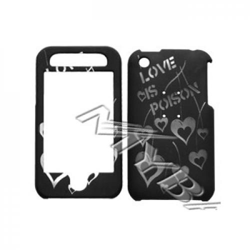 Apple iPhone 3G Illusion Hard Case - Clear Love Poison on Black