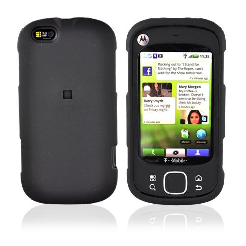 Motorola Cliq XT Rubberized Hard Case - Black
