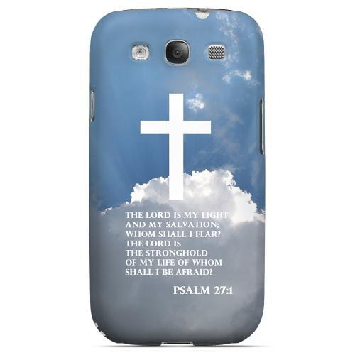 Geeks Designer Line (GDL) Bibles Series Samsung Galaxy S3 Matte Hard Back Cover - Psalm 27:1