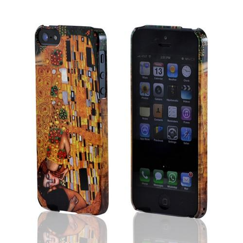 Geeks Designer Line (GDL) Apple iPhone 5/5S Gustav Klimt Slim Hard Back Cover - The Kiss