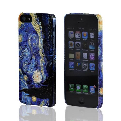 Geeks Designer Line (GDL) Apple iPhone 5/5S Van Gogh Slim Hard Back Cover - Starry Night
