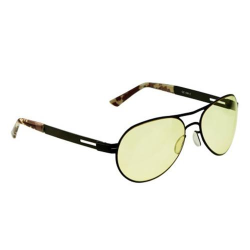 Gamers Edge Black Aviator Glasses with Camo Curved Temples