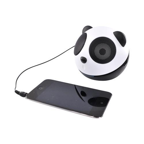 GOgroove Universal Portable Stereo Speaker, GG-PANDA-PAL - Black/White (3.5mm)