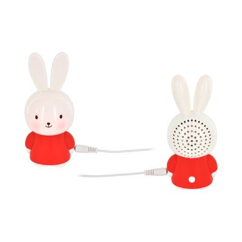 Universal Portable Bunny Speaker (3.5mm) - Red