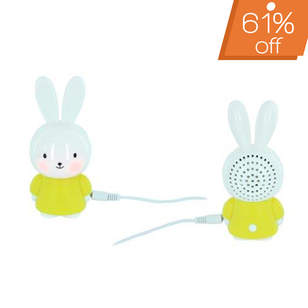 Universal Portable Bunny Speaker (3.5mm) - Yellow