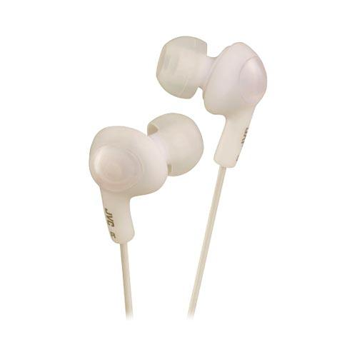 Original JVC Gummy Plus Universal Noise Cancelling Stereo Headphones (3.5mm), HA-FX5-W - White