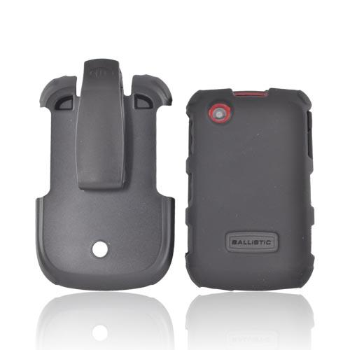 Original Ballistic Blackberry Curve 9330, 8500 Hard Case Combo w/ Holster & Screen Protector - Black/ Red