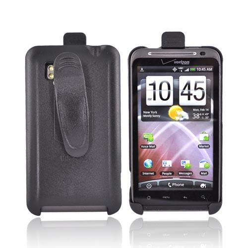 HTC Thunderbolt Holster w/ Swivel Belt Clip - Black