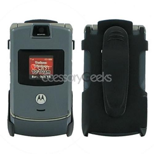 Motorola V3c Holster w/ Swivel Belt Clip - Black