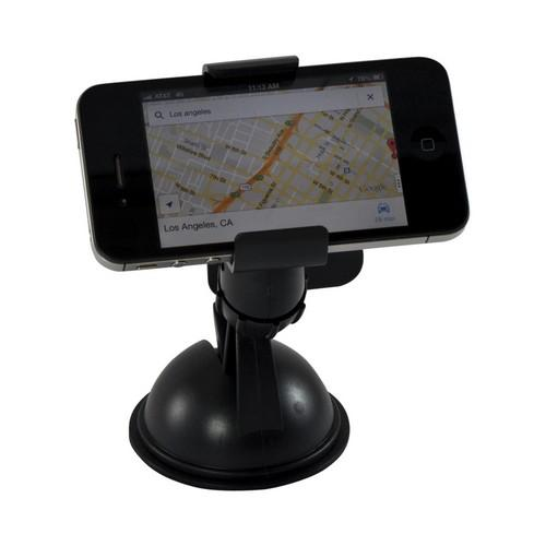 Black Suction Cup Car Mount for Universal Smartphones & MP3 Players