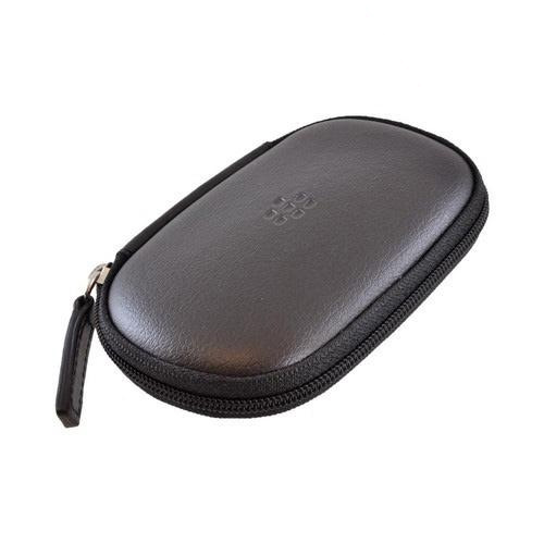 Blackberry Black Universal Zippered Leather Accessory Carrying Case Pouch - HDW-18422-001