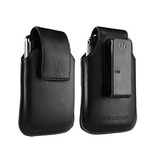 Original Blackberry Storm Leather Holster w/ Belt Clip, HDW-19819-001 - Black