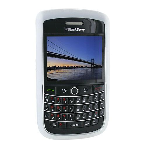 Original Blackberry Bold 9650 & Tour 9630 Silicone Case, Rubber Skin - Frost White