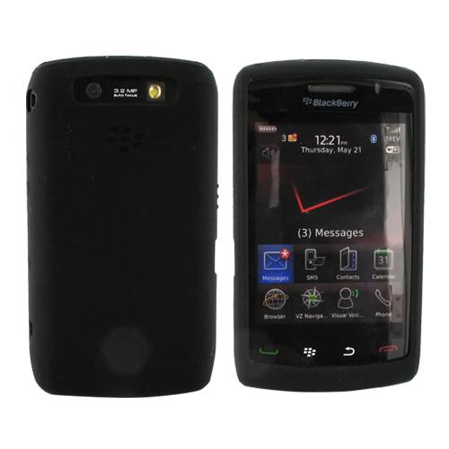 Original Blackberry Storm 2 9550 Silicone Skin Case - Black, HDW-27287-001
