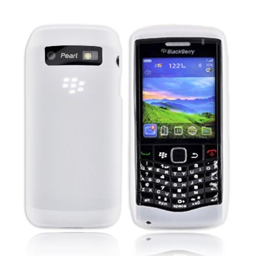 Original Blackberry Pearl 3G 9100 Silicone Case, Rubber Skin, HDW-29561-002 - Frost White