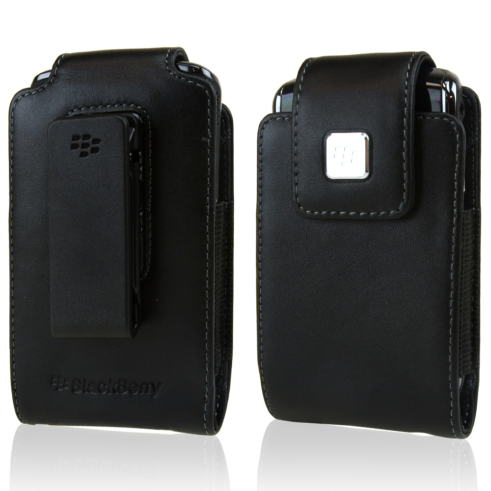 Original Blackberry Torch 9800 Leather Pouch w/ Swivel Belt Clip, HDW-31012-001 - Black (Blackberry Sizes)