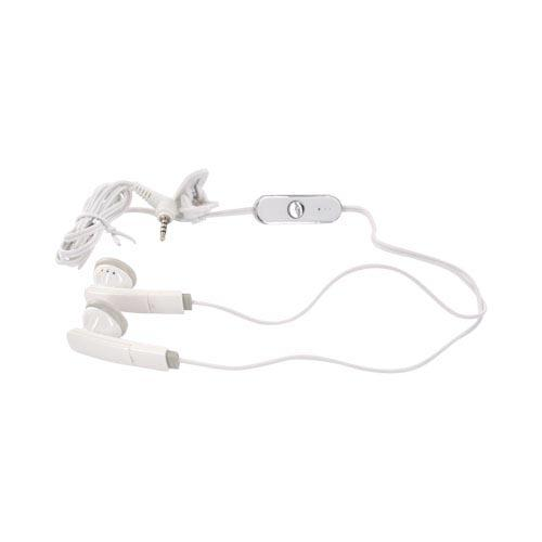 Universal Hands-Free Headset (2.5mm) - White/ Gray