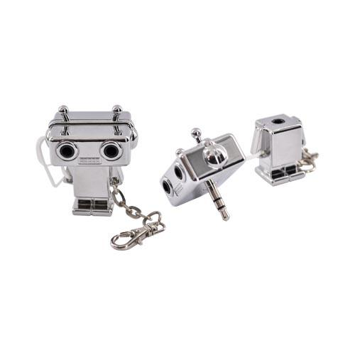Original DCI Universal Audio Headset Splitter - Silver Robot (3.5mm)