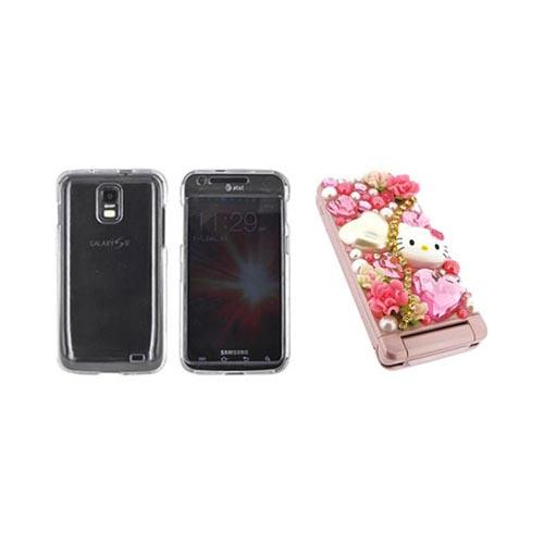 Samsung Galaxy S2 Skyrocket Hello Kitty DIY Bundle w/ Officially Licensed Hello Kitty Decoration Art Kit & Clear Hard Case