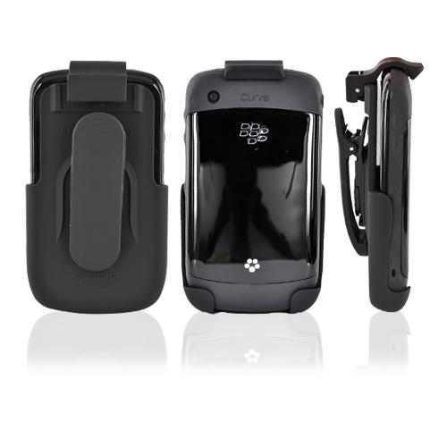 Original Seidio Blackberry Curve 3G 9330, 9300, 8520, 8530 Face-In Rubberized Spring-Clip Holster - Black