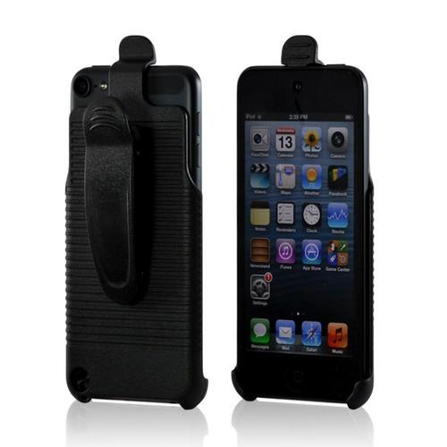 Black Holster w/ Swivel Belt Clip for Apple iPod Touch 5