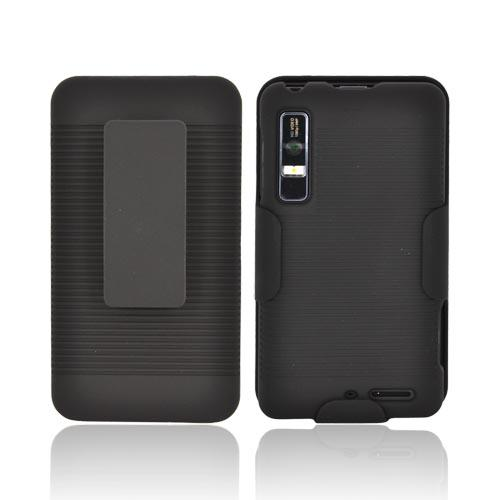 Motorola Droid 3 Rubberized Holster and Case Combo - Black
