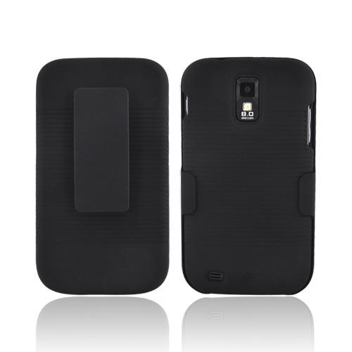 T-Mobile Samsung Galaxy S2 Rubberized Hard Case w/ Holster Stand - Black