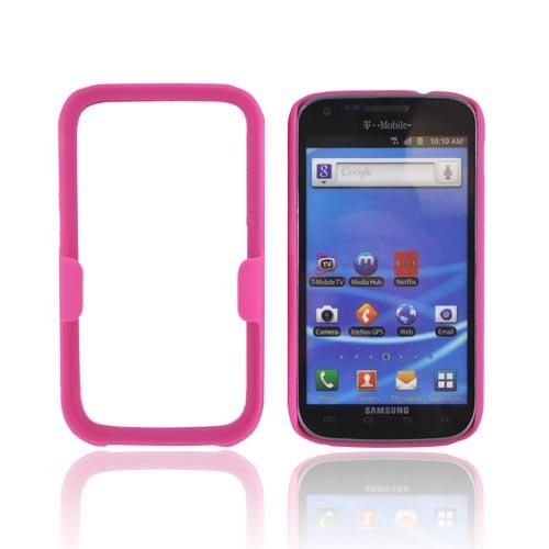 T-Mobile Samsung Galaxy S2 Rubberized Hard Case w/ Holster Stand - Hot Pink