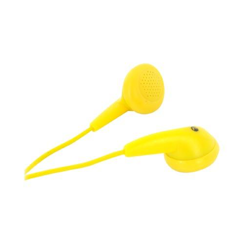 Universal Earbud Stereo Headset w/ Ear Cushions (3.5mm) - Yellow