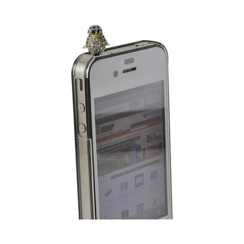 Universal Silver Bling Mini Penguin 3.5mm Headphone Jack Stopple Charm