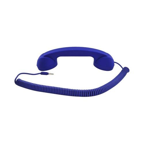 "Original Native Union ""Moshi Moshi"" Universal Retro Soft Touch Telephone Handset (3.5mm) - Dark Blue"