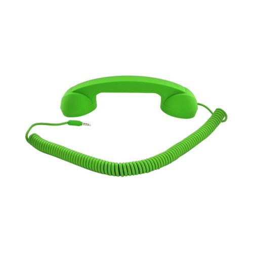 "Original Native Union ""Moshi Moshi"" Universal Retro Soft Touch Telephone Handset (3.5mm) - Lime Green"