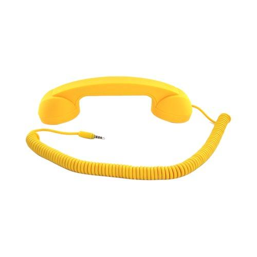 "Original Native Union ""Moshi Moshi"" Universal Retro Soft Touch Telephone Handset (3.5mm) - Yellow"