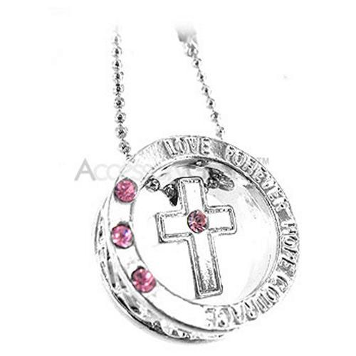 Cross Ring Cell Phone Charm - Baby Pink