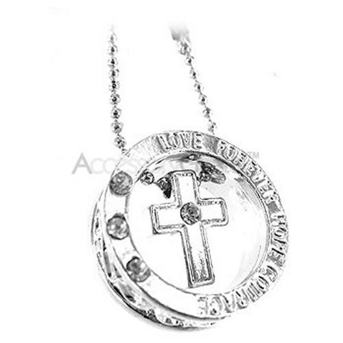 Cross Ring Cell Phone Charm - Clear