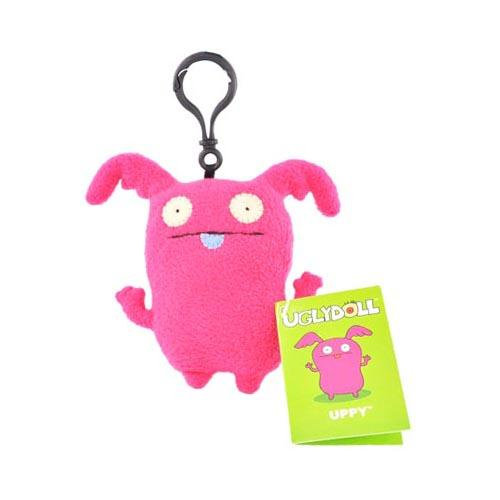UGLYDOLL Plush Uppy Clip On Charm Strap - Hot Pink